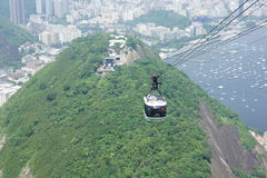 Drahtseilbahn, Rio de Janeiro Stockbild