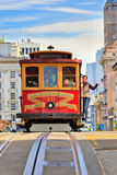 Drahtseilbahn in San Francisco Stockfoto