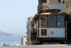 Drahtseilbahn in San Francisco Stockfotos