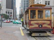 Drahtseilbahn in San Francisco Lizenzfreies Stockbild