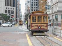 Drahtseilbahn in San Francisco Stockbilder