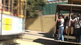 Drahtseilbahn in San Francisco stock video