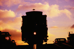 Drahtseilbahn in San Francisco, CA Lizenzfreies Stockfoto