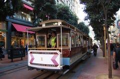 Drahtseilbahn in San Francisco, Kalifornien Stockfotografie