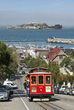 Drahtseilbahn in San Francisco, Kalifornien Lizenzfreies Stockfoto