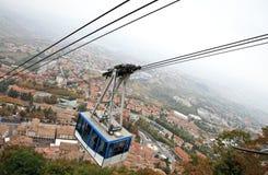 Drahtseilbahn in San Marino, Ansicht von oben Lizenzfreie Stockbilder