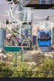 Drahtseilbahn in Santiago de Chile Stockfotografie
