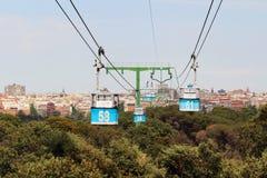 Drahtseilbahn Teleferico Des Madrid, Spanien lizenzfreie stockfotografie