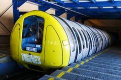 Drahtseilbahn Tignes, Frankreich Stockbilder