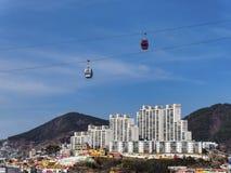 Drahtseilbahn in Yeosu-Stadt Lizenzfreie Stockfotografie