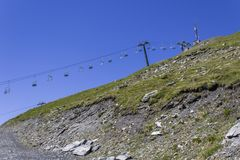 Drahtseilbahn zu Muret Stockbild