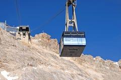 Drahtseilbahn zum Zugspitze Gipfel Lizenzfreie Stockfotografie
