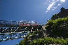 Drahtseilbahn zur Hohensalzburg-Festung in Salzburg Lizenzfreies Stockbild