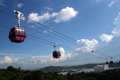Drahtseilbahnen in Singapur Lizenzfreies Stockfoto