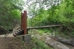 Drahtseilbrücke Stockfotos