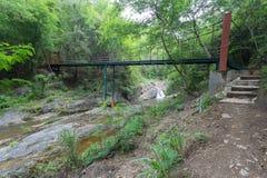 Drahtseilbrücke Stockbild