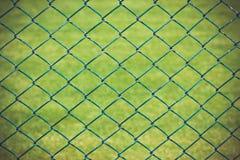 Drahtzaun mit grünem Gras auf Hintergrund lizenzfreie stockfotografie