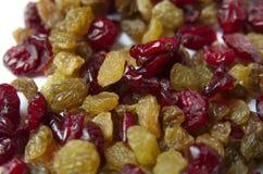 Dried Raisins And Cranberries Stock Photo