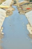 River drain channel Royalty Free Stock Image