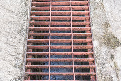 The drain. In the city on street Stock Image