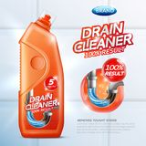 Drain Cleaner Poster Royalty Free Stock Photos