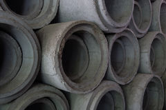Drain concrete pipes. Stock Image