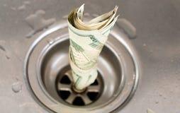Drain d'argent Photo stock