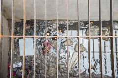 Drain dirty garbage. Royalty Free Stock Photography