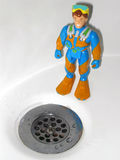 Drain Divin'. It's a dirty job, but somebody's gotta do it Royalty Free Stock Images