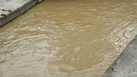 Drain flooding. In Kuala Lumpur,Malaysia stock footage