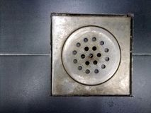 Drain on the floor royalty free stock photography