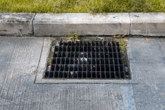 Drain grate made of steel Stock Photography