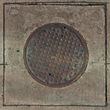 Drain manhole cover Stock Photography