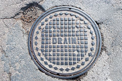 Free Drain Manhole Cover Stock Photo - 27718910