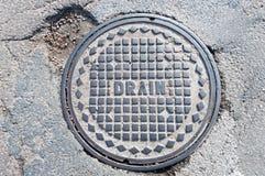 Drain Manhole Cover Stock Photo