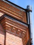 Drain-pipe na parede Fotos de Stock