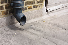 Drain pipe opening Royalty Free Stock Image