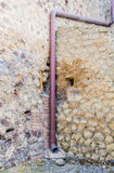 Drain Pipe in Pompeii Wall Stock Image