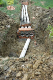 Drain pipe. Prepaired for construction Stock Image