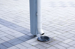 The drain pipe Royalty Free Stock Images