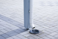 The drain pipe Stock Photography