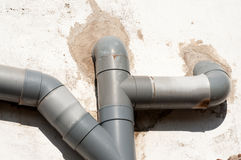 Drain pipes Royalty Free Stock Photos