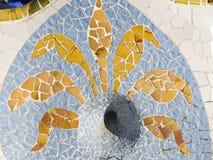 Drain for rain of Antonio Gaudi stock images