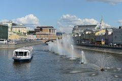 The drainage channel. Moscow Royalty Free Stock Photos