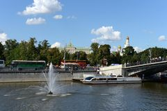 The drainage channel. Moscow Royalty Free Stock Photography