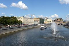 The drainage channel. Moscow Royalty Free Stock Photo