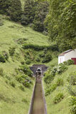 Drainage channel water in Lagoa Azul. Sete Cidades. Azores, Port Royalty Free Stock Image