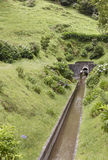 Drainage channel water in Lagoa Azul. Sete Cidades. Azores, Port Stock Photography