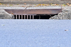 Drainage channels Royalty Free Stock Images