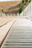 Drainage channels. On road in thailand stock photo